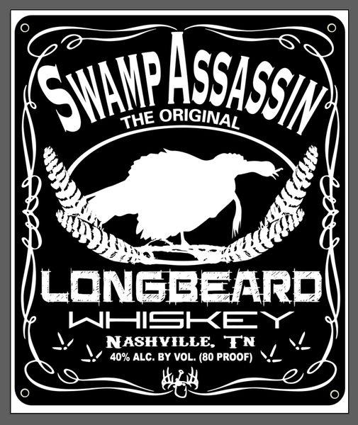 Swamp Assassin Longbeard Whiskey Banner