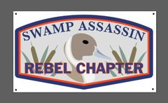 "Swamp Assassin Pintail ""Rebel Chapter"" Mancave Banner"