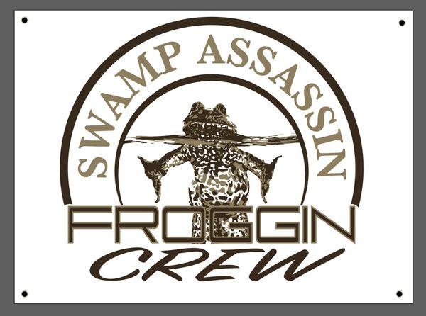 """Swamp Assassin """"Froggin Crew"""" Indoor/Outdoor Banner!"""