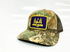 New Swamp Assassin Realtree Xtra Ranch Series BaseballFit Snapback (Purple & GoldPatch)