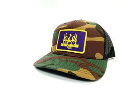 New Swamp Assassin Old School Ranch Series BaseballFit Snapback (OldSchool/Black Mesh)(Purple & GoldPatch)