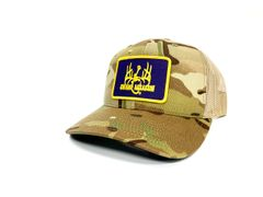 New Swamp Assassin Multicam Khaki Ranch Series BaseballFit Snapback (MulticamTan/Khaki)(PurpleGoldPatch)