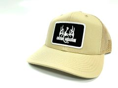 New Swamp Assassin Khaki Ranch Series BaseballFit Snapback (AllKhaki Black White Patch)