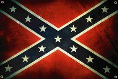 Confederate Flag Rustic Banner