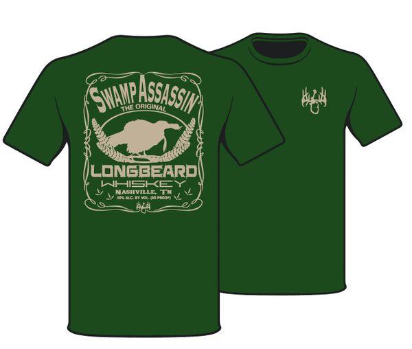 Swamp Assassin Longbeard Whiskey Shortsleeve