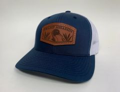 NEW SADDLE LEATHER SERIES PINTAIL SNAPBACK NAVY/WHITE **LIMITED STOCK**