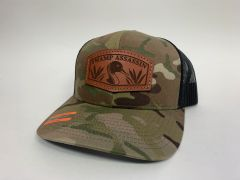 NEW SADDLE LEATHER SERIES PINTAIL SNAPBACK TAN MULTICAM & BLACK **LIMITED STOCK**