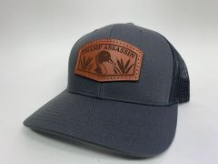 NEW SADDLE LEATHER SERIES PINTAIL SNAPBACK GREY/BLACK **LIMITED STOCK**