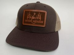 NEW SADDLE LEATHER SERIES LOGO SNAPBACK BROWN/KHAKI **LIMITED STOCK**