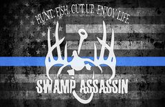 Swamp Assassin Thin Blue Line Ole Glory Banner