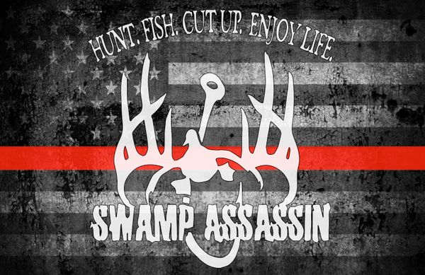 Swamp Assassin Thin Red Line Ole Glory Banner
