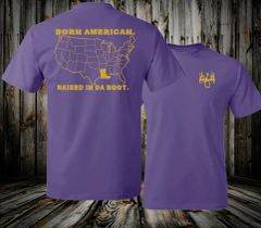 BORN AMERICAN RAISED IN THE BOOT TEE