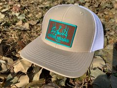 New GEN3 Logo Khaki/White Snapback with Brown/Teal Patch