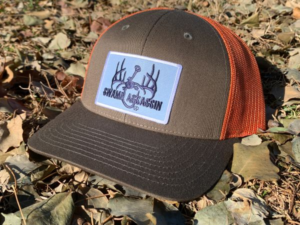 New GEN3 Logo Dark Loden Brown/Jaffa Orange Snapback with Navy/Carolina Blue/White Patch