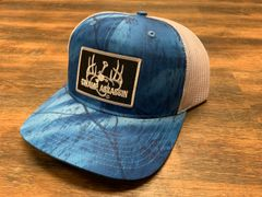 Swamp Assassin G3 Realtree Fishing Camo Blue with White Mesh Logo Snapback