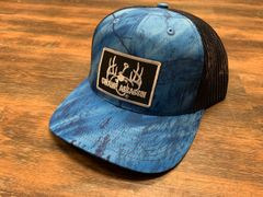 Swamp Assassin G3 Realtree Fishing Camo Blue with Black Mesh Logo Snapback