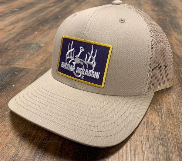 New G3 Swamp Assassin Khaki Ranch Series BaseballFit Snapback (AllKhaki Purple Gold Patch)