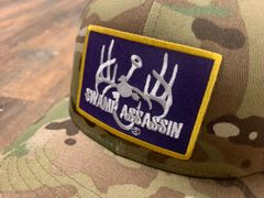 New Swamp Assassin Multicam Green/ Black Ranch Series BaseballFit Snapback (OldSchool/Black Mesh)(Purple & GoldPatch)