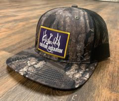New Swamp Assassin Realtree Timber Ranch Series BaseballFit Snapback (Purple & GoldPatch)