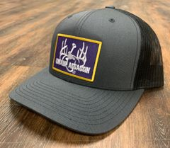 New Swamp Assassin G3 Graphite Grey/Dark Grey Mesh Ranch Series BaseballFit Snapback (Purple/Yellow Patch)
