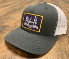 New Swamp Assassin G3 Grey/White Ranch Series BaseballFit Snapback (Purple/Gold Patch)
