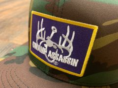 Tallboy Old School Cam Old School Snapback (Purple/Gold Patch)