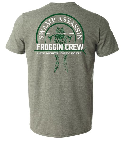 "Swamp Assassin Froggin Crew ""Late Nights. Dirty Boats"" Tee"