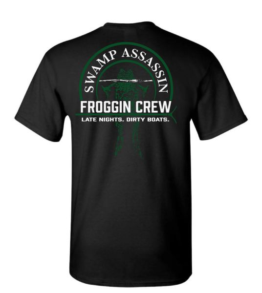 "Swamp Assassin Froggin Crew ""Late Nights. Dirty Boats"" Black"