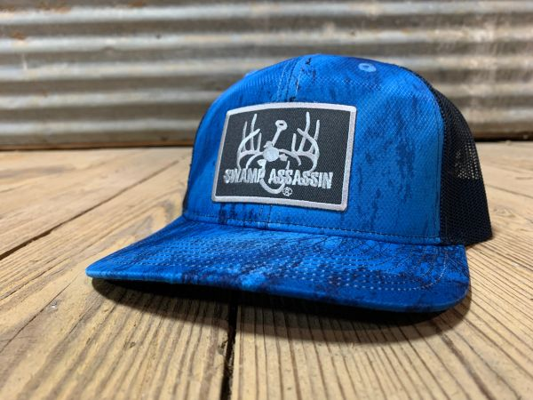Swamp Assassin G3 Realtree Fishing Camo Blue with Navy Mesh Logo Snapback