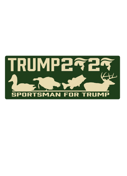 Sportsman For Trump Decal (6in Wide)