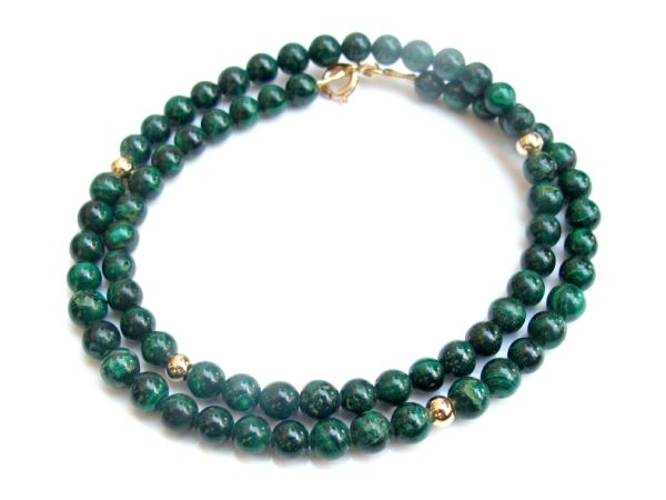 green eilat gemstone 14k gold beads bracelet natural king solomon gem jewelry men women bangle wrap