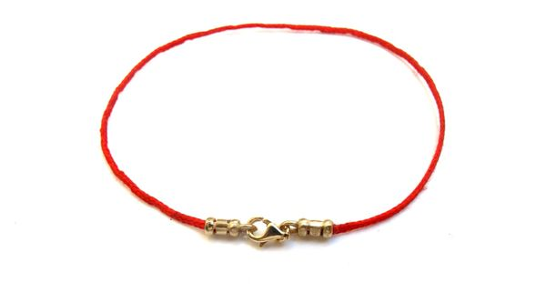 14k solid Gold Kabbalah original authentic luxury version Red Bracelet String Eye Evil Rachel Tomb Israel Luck Blessed