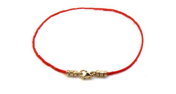 14k solid Gold Kabbalah original authentic luxury version Red Bracelet String Eye Evil Rachel Tomb Israel Luck Blessed
