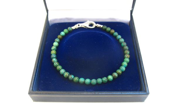 turquoise silver beads bracelet blue green men natural gemstone bracelet , genuine round turquoise 4mm beads bracelet