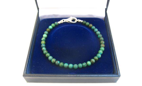 turquoise silver beads bracelet blue green men natural gemstone bracelet , genuine round turquoise 4mm beads bracelet