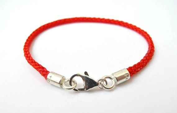Kabbalah red string The original pure silk Celebrities choice Rachel tomb amulet for luck and protection 925 sterling silver