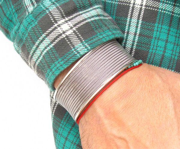 sterling silver wide cuff bangle bracelet handmade solid 925
