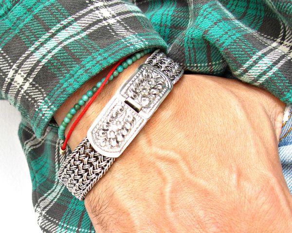 sterling silver handmade heavy solid bangle bracelet cuff artisan jewelry men women