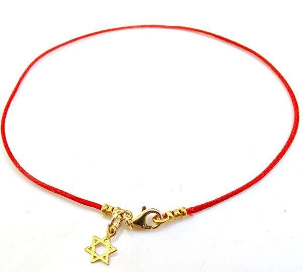 kabbalah red string star of david gold bracelet