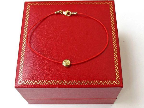 kabbalah original red string solid 14k gold bracelet evil eye bead luck amulet