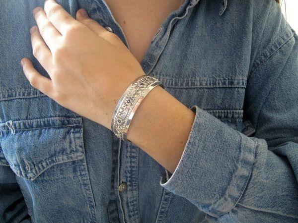sterling silver handmade cuff bracelet