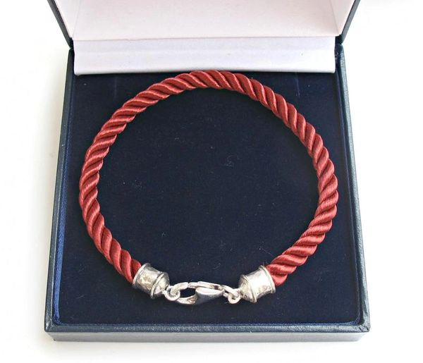 Kabbalah red string pure silk and silver bracelet authentic traditional luck