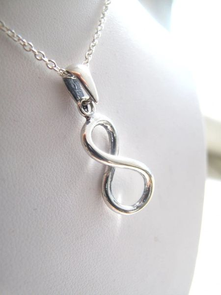 Infinity necklace , sterling silver infinity necklace , silver infinity charm necklace , infinity silver symbol pendant