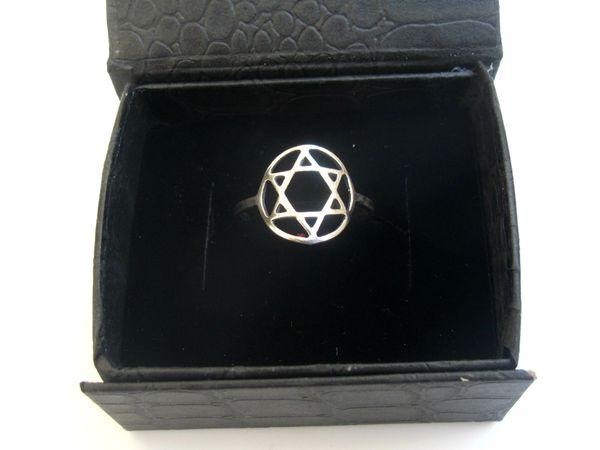 Star of David 925 sterling silver ring David shield magen David symbol