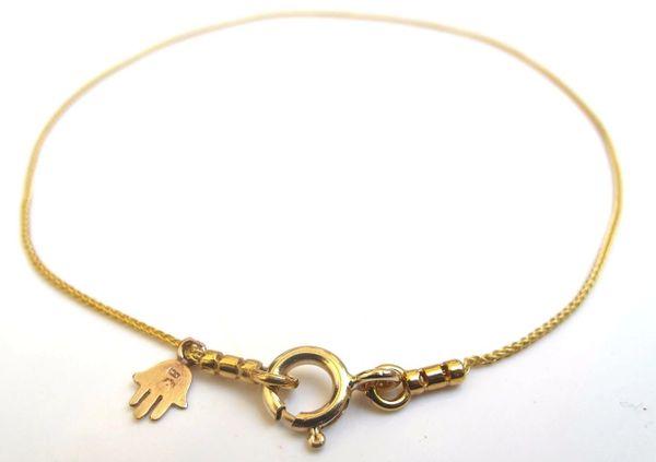 14 k gold hamsa charm bracelet