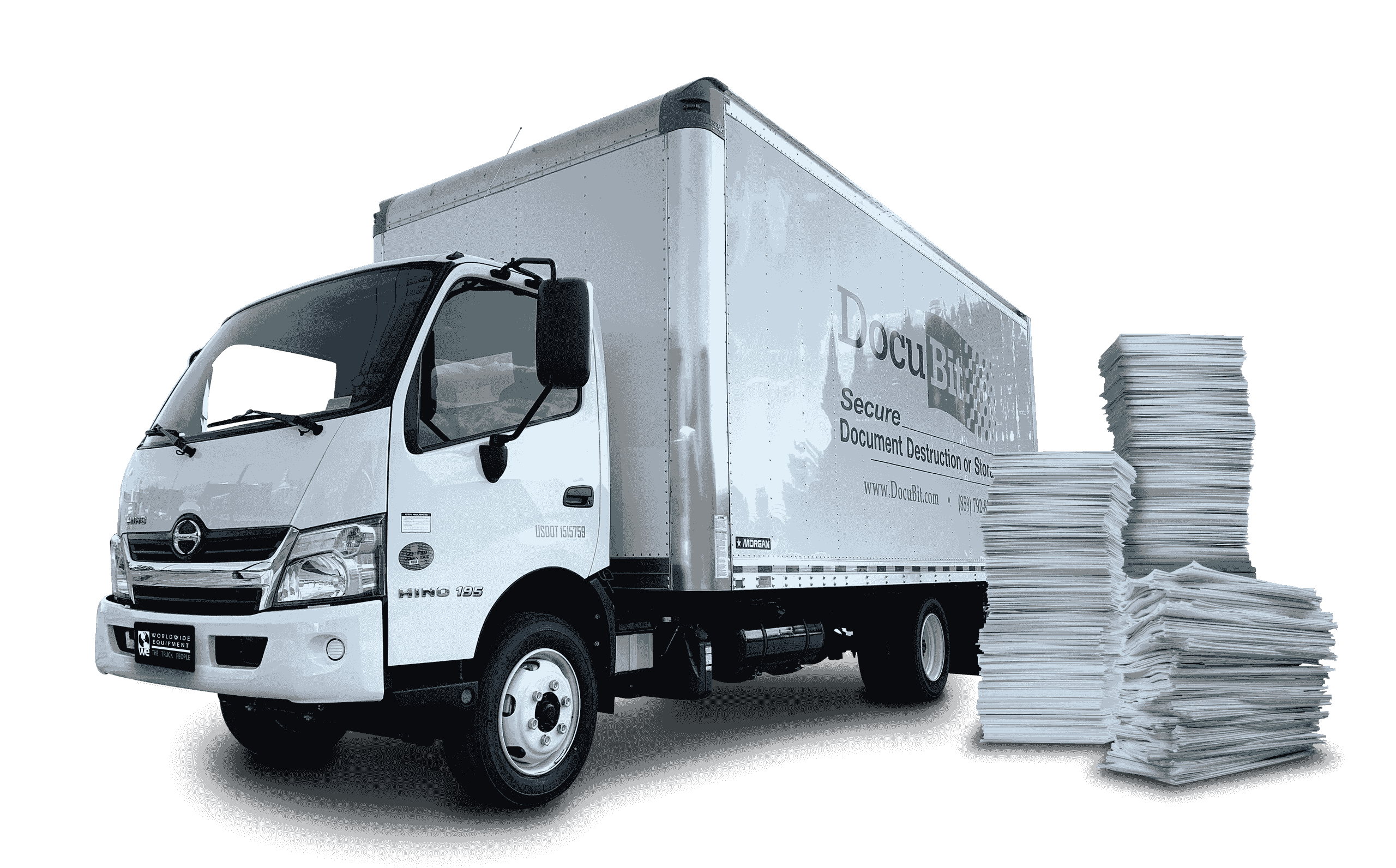 Paper Shredding Box Truck