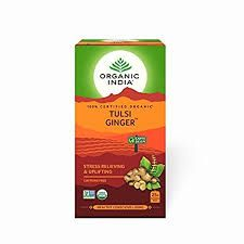 ORGANIC INDIA TULSI GINGER 25 TEA BAGS