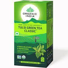 ORGANIC INDIA TULSI GREEN TEA 25 TEA BAGS