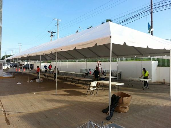 ****15' x 40' Frame Tent SuperSale (Single Tube Aluminum) (Variety of Colors in 1, 3, or 4-Piece)