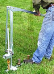 "JackJaw 302 Premium Quality Tent Stake Puller (easily removes stakes or rebar with a diameter of ¾"" to 1 ¼"" used with stake bar plates or from surfaces where stakes have been pounded flush to the ground) - Click on Picture"